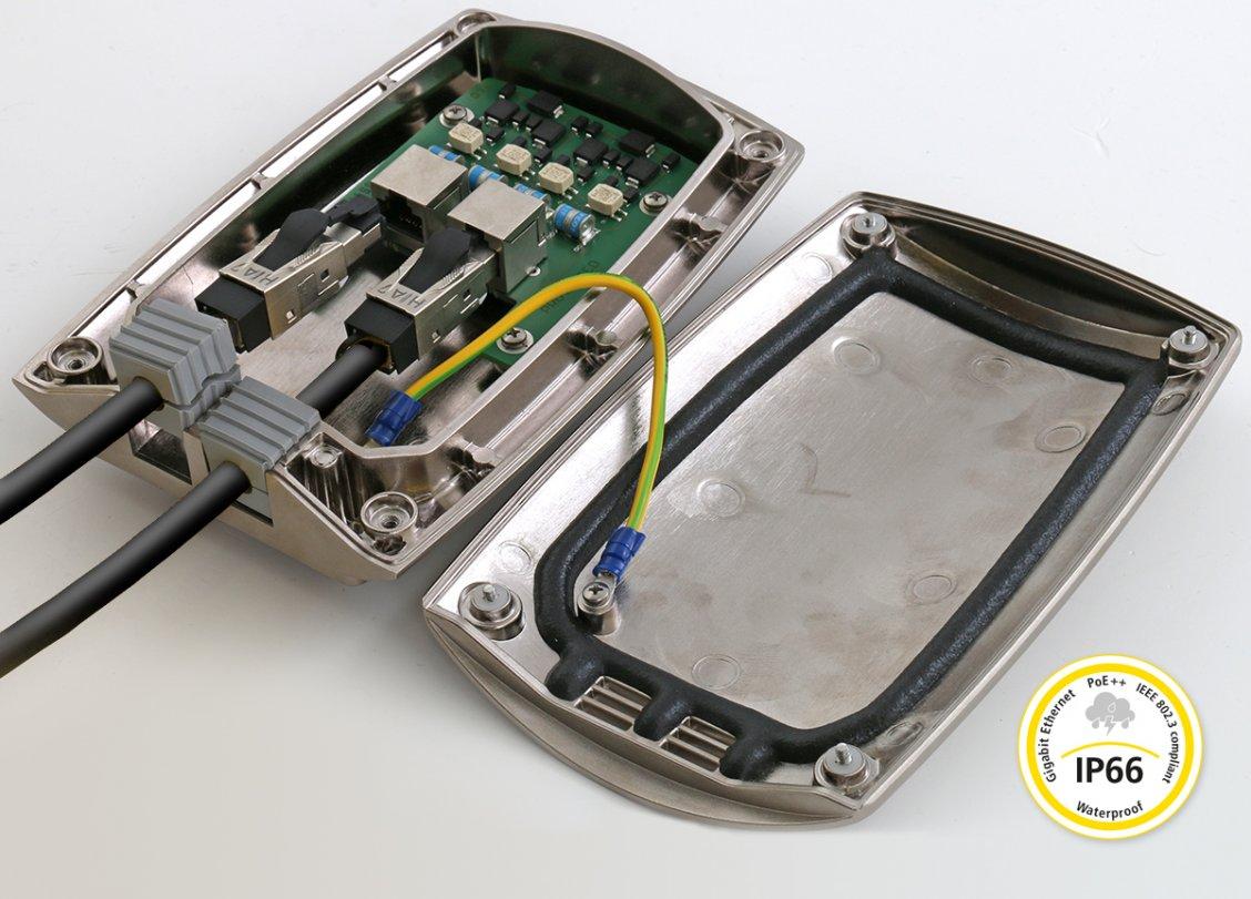 DEHNpatch Outdoor: Waterproof Ethernet/PoE protector
