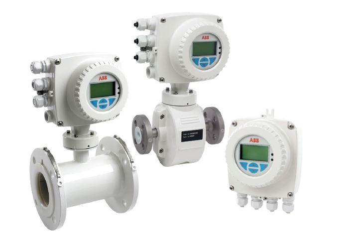 Displays ABB's Watermaster Electromagnetic Flowmeter
