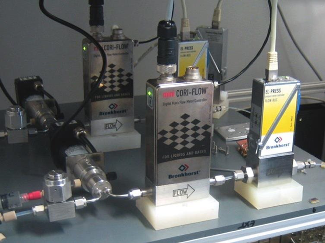 Bronkhorst meters and controllers used in catalyst research