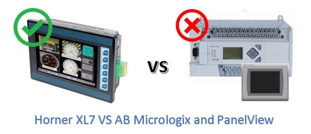 Allen Bradley Micrologix and PanelView vs Horner XL7